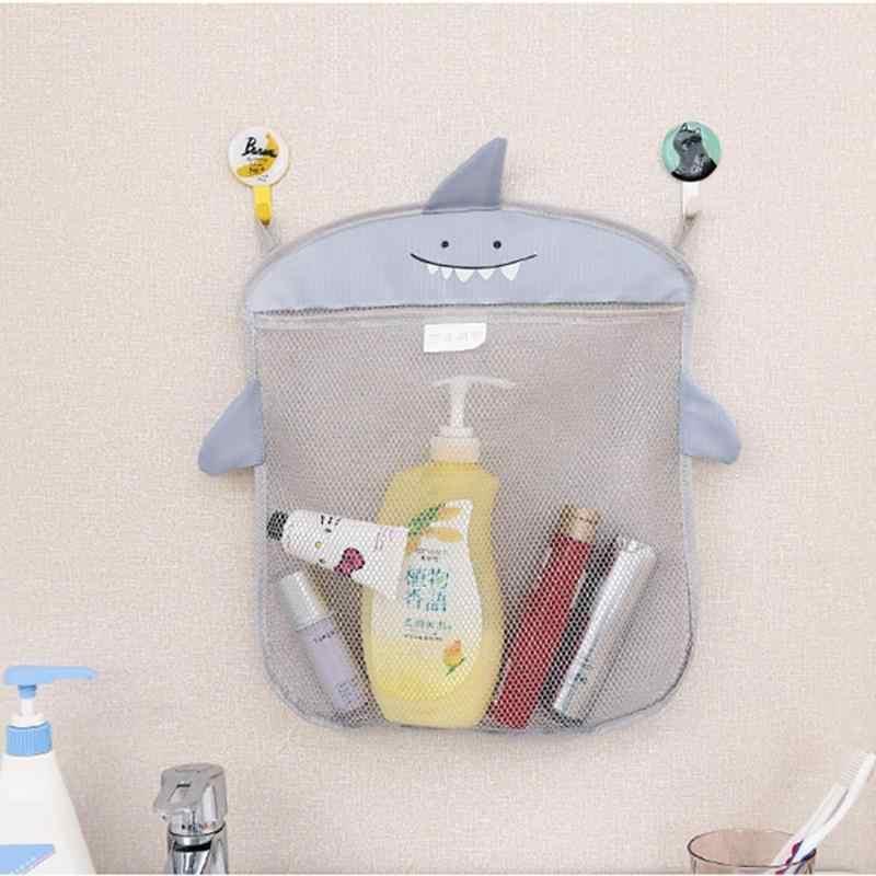 Torba do zawieszenia organizator kosmetyki przezroczyste Cartoon Sucker wiszące siatki Cartoon łazienka kosz do przechowywania dla dzieci dla dzieci zabawki do kąpieli
