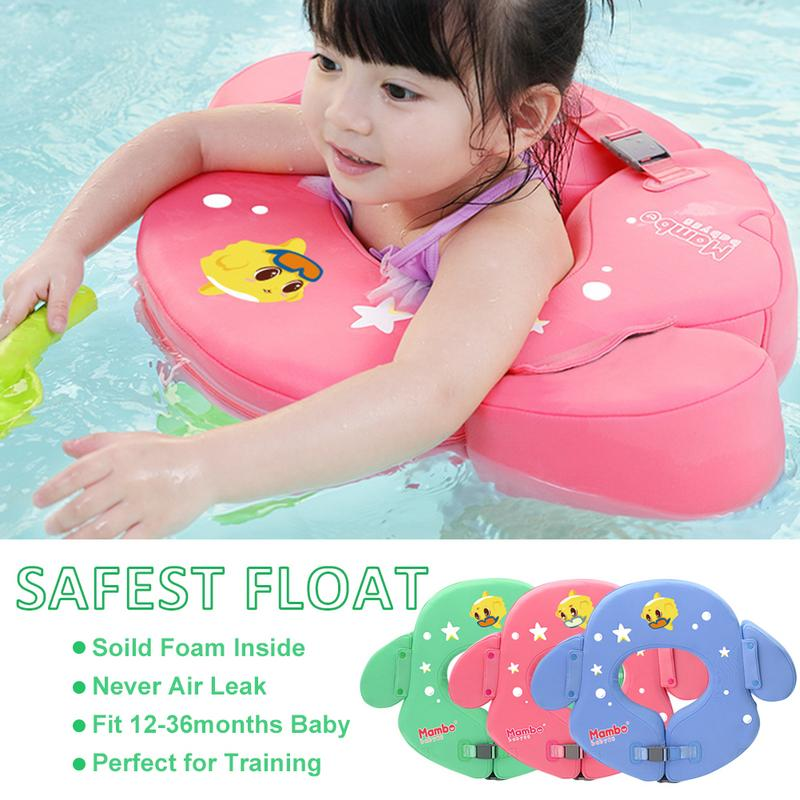 Baby Solid Swimming Float Non Inflatable Swimming Ring Safety PVC Children Swim Training Aid For Bathtub Pools Swim Trainer