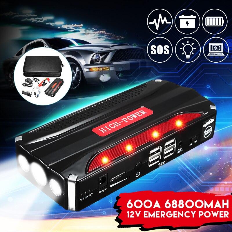 Multi Функция практичный 69800 мАч светодиодный 4 USB автомобиль пусковой стартер Booster портативный запасные аккумуляторы для телефонов резервног...