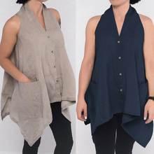 Celmia 2019 verano Tops ropa de las mujeres blusas sin mangas Casual suelto  Tuinic camisas botones Irregular Blusa Mujer Plus ta. 53604f57dcfa