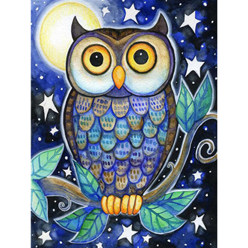 Owl Series paintings by numbers for children diy wall canvas painting Training acrylic coloring by number animals Pictures