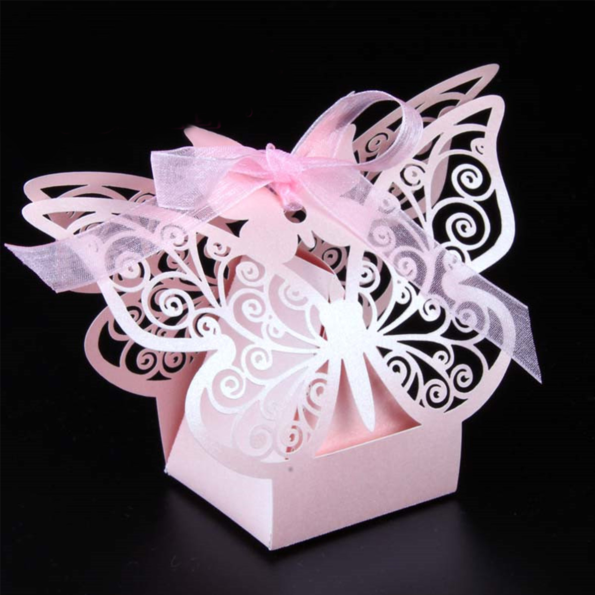 50Pcs Butterfly Gift Paper Boxes Creative Laser Cutting Wedding Candy Box Chocolate Carton Wedding Decoration Supplies