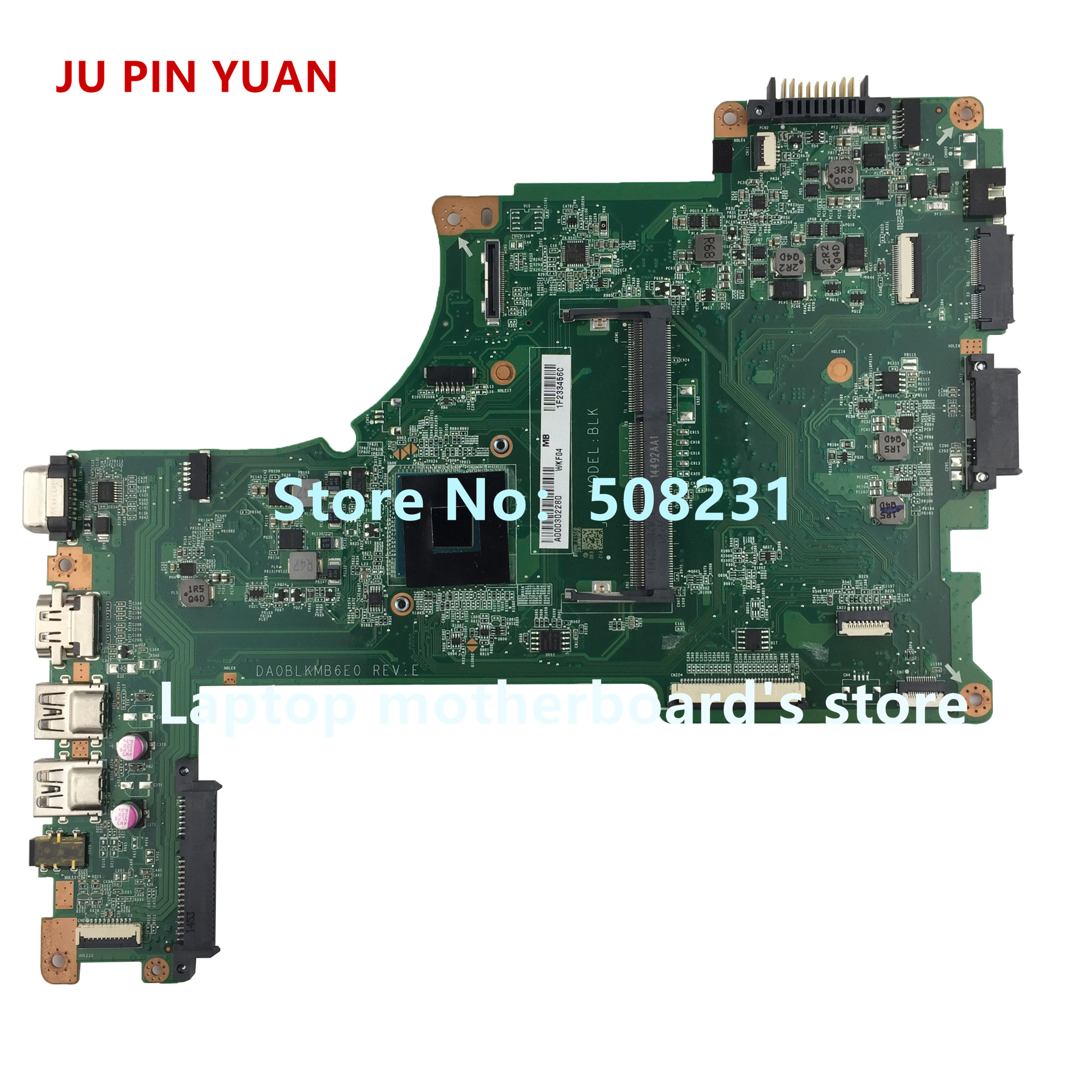 JU PIN YUAN A000302280 DA0BLKMB6E0 mainboard For Toshiba Satellite L50 L50 B L55 L55 B laptop