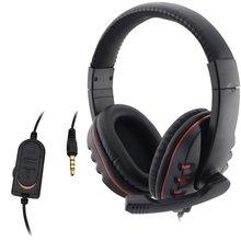 Originais com fio 3.5mm Plug Gaming Headset Fone De Ouvido Fone de Ouvido Microfone Música Para PlayStation PS4 4 Jogo PC Chat Do Jogo Fones De Ouvido