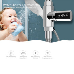LED Display Home Water Shower Thermometer Celsius Self-Generating Electricity Water Monitor Baby Care Washing Faucet Extender