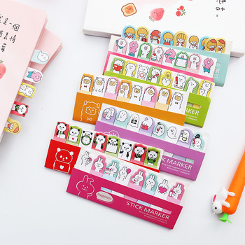 Mini Cute Kawaii Cartoon Animals Cat Panda Memo Pad Sticky Notes Memo Notebook Stationery Note Paper Stickers School Supplies Memo Pads