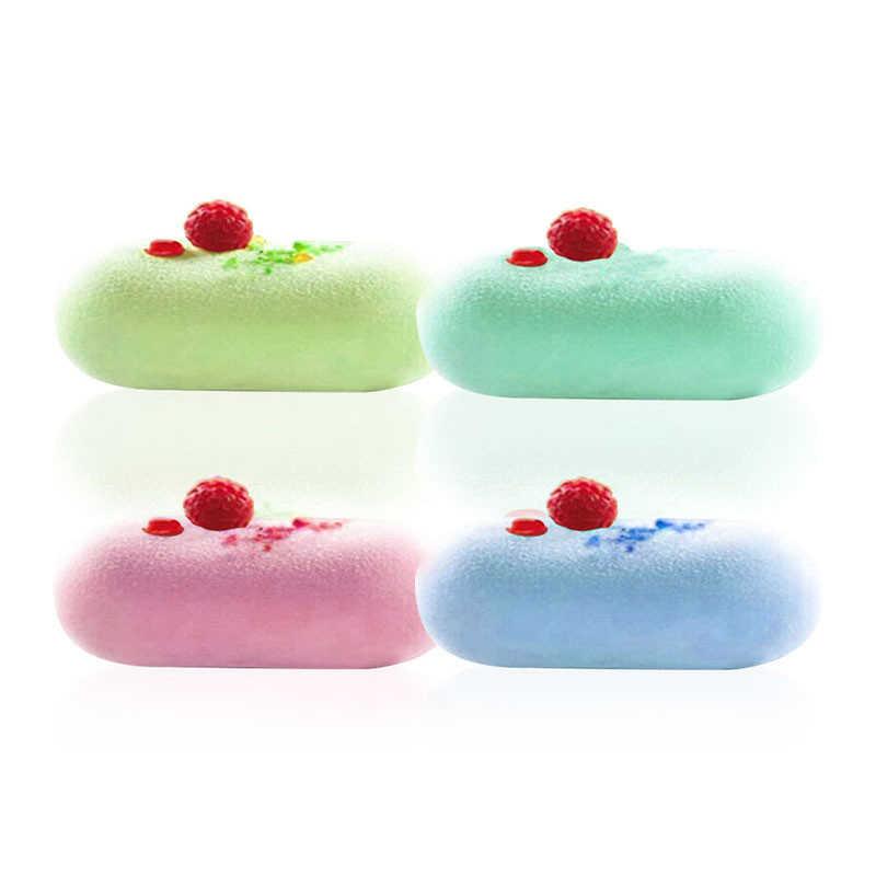 Новая 5 отверстий овальная подушка в форме силиконовая форма DIY мыло желе шоколадный мусс плесень полосы 3D торт декоративные инструменты для выпечки