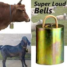 Cow Sheep Horse equipment Grazing Bells Upgraded Version Prevent The Loss Galvanized Steel Material Bell 6cmX3.5cm(China)