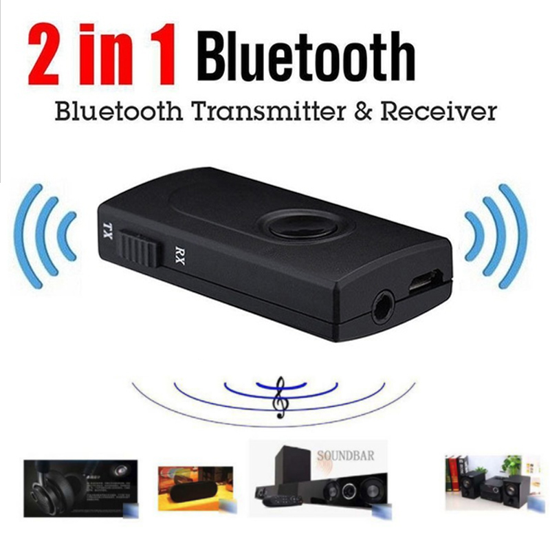 V4 Bluetooth Transmitter Receiver Wireless A2DP 3.5mm Stereo Audio Music Adapter For TV Phone PC Y1X2 MP3 MP4 TV PC