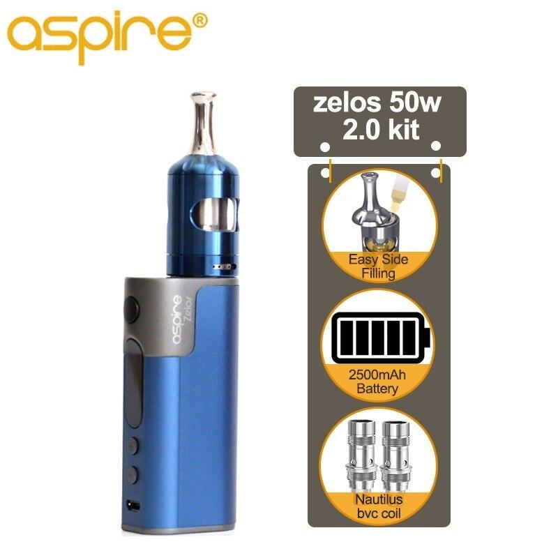 Elektronische Sigaret Aspire Zelos 2.0 Vaper Starter Kit E Sigaret Met Nautilus 2S Tank en 2500mah Ingebouwde Batterij gebruik BVC Spoel-in Kits voor e-sigaretten van Consumentenelektronica op  Groep 1