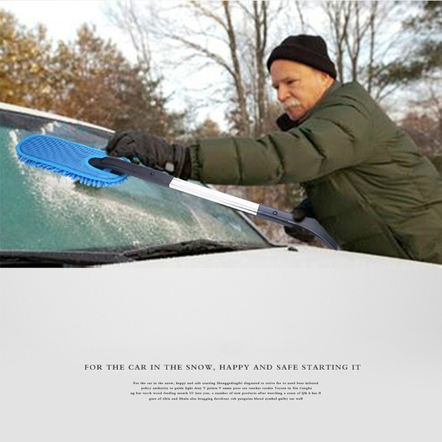 3 In 1 Vehicle Brush Snow Shovel Detachable Multifunctional Ice Scraper Accessories Tool Winter Car Frost Cleaning