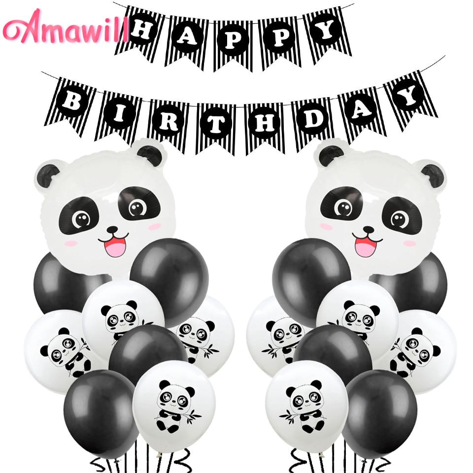 "30/"" PANDA Animal Foil Balloon Kids Party Birthday Decorations"