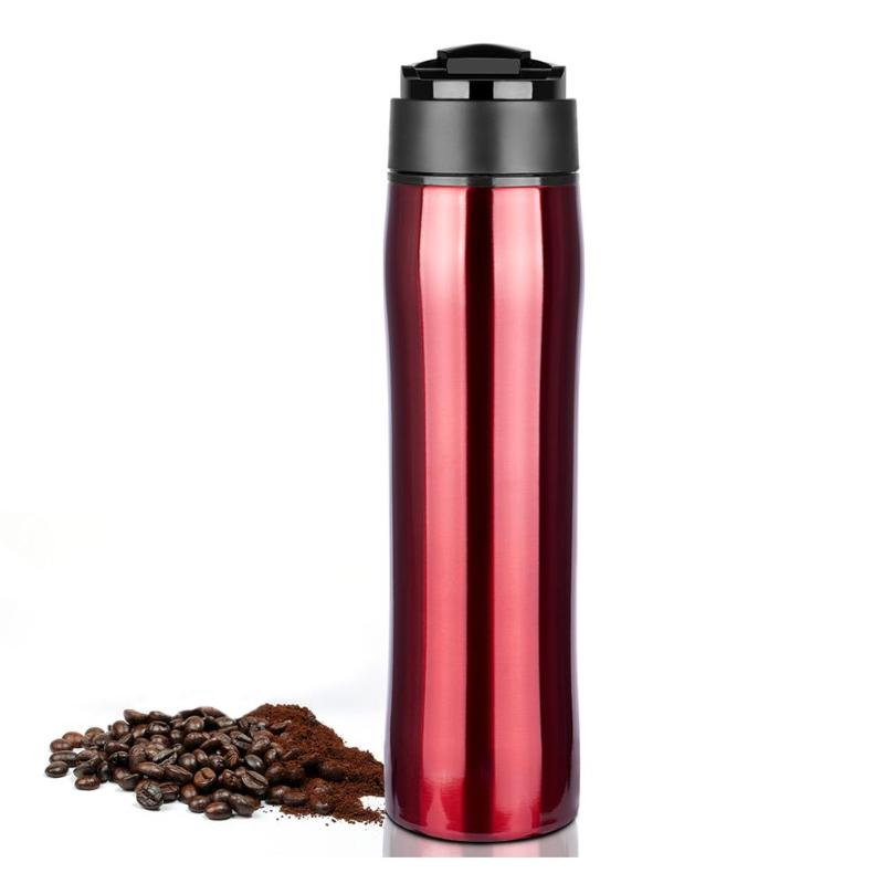 Stainless Steel French Press Coffee Pot Portable Coffee Maker Vacuum Mug Cup Bottle Coffeeware Portable Coffee Pot