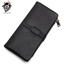 Black Color Genuine Leather Wallet Men Clutch Bag Leather Wallet Card Holder Coin Purse Zipper Male Long Wallets williampolo 2018 long clutch bag leather wallet men genuine leather luxury brand men zipper wallets multi card holder coin purse