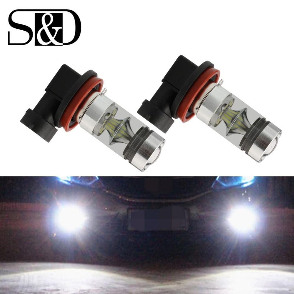 2 pcs h8 h11 lampada led 9006 luzes de nevoeiro carro 12 hb4 9005 hb3 v