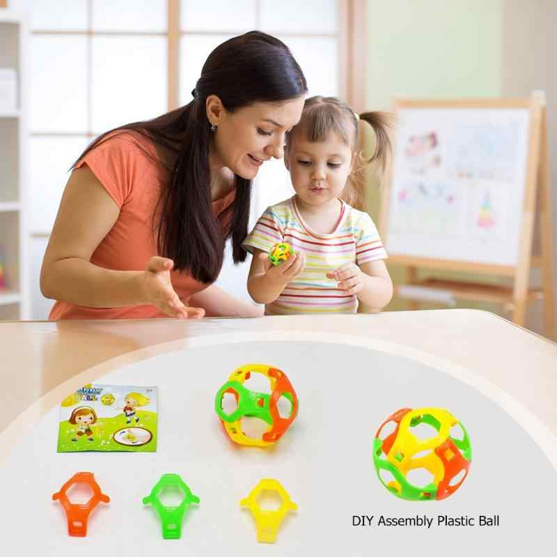 6 sztuk/partia 3D piłka układanka intelekt zabawki do gry w piłkę gry DIY montaż piłka plastikowa kreatywne dzieci zabawki do wczesnej edukacji