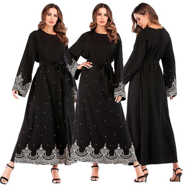 4e00e3864b4de Cheap Plus Size Robe Femme 2019 Abaya Dubai Kaftan Women Bodycon ...
