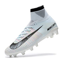 d03d7a78d15 Nike Mercurial Superfly V Ag Professional White Football Shoes Outdoor Lawn  Mens Football Boots 831955-870 39-45