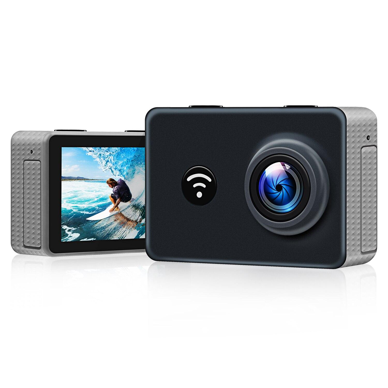 Caméra d'action de prise de vue 14MP 4 K WiFi Ultra HD 170 degrés objectif Ultra grand Angle extérieur 1080 P caméra de sport