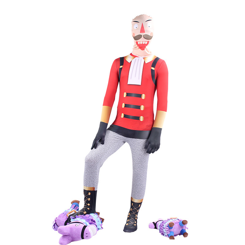 Boys Fortress Night Costume With Mask Game Battle Royale Fortnight Halloween Costume Cosplay For Kids Men Clothes Jumpsuit