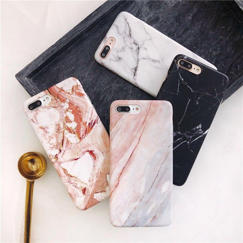 Moskado Phone Case For iPhone 6 6s 7 8 Plus Luxury Glossy Granite Stone Marble