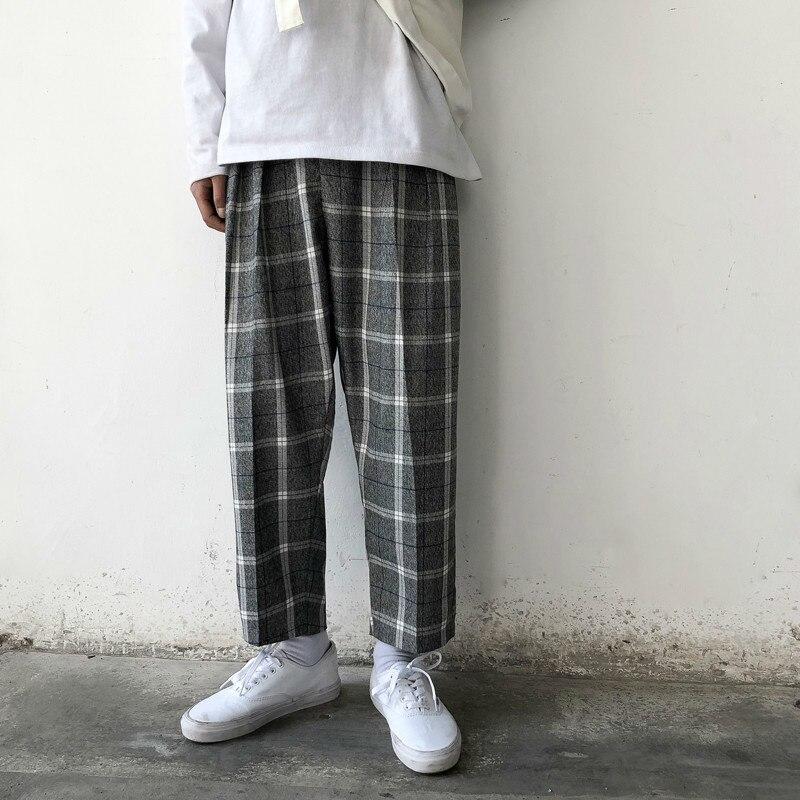 2019 Men's Restore Lattice Printing Leisure Cotton Casual Pants Trousers Active Elastic Harem Hip Hop Joggers Sweatpants M-2XL