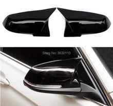 Gloss Black Mirror Cover Cap For BMW F20 F22 F30 F31 F35 F33 F34 F32 F36 ebilaen car radio multimedia for bmw f30 f31 f36 f34 f32 f33 f20 f21 nbt system unit pc android 10 0 autoradio navigation gps