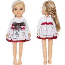 1791d40a3cdcb2 Hoge Kwaliteit Mini Jurk Leuke Patroon Strik Rok Wedding Party Gown Kleding  Voor Sharon Doll Voor Nancy Pop Accessoires Gift