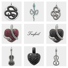 Snake Heart Violin Pendant, 2019 Brand New Ts Fashion Jewelry 925 Sterling Silver Trendy Gift For Women Girls Fit Necklace