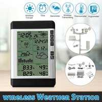 USB беспроводной метеостанции и бытовой ЖК термометр гигрометр прогноз сенсор атмосферное давление Прогноз погоды часы