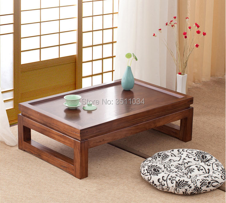 Free Shipping 60x40x25cm Japanese Tea Tables, Tatami Tables, Tea Tables, Zen Meanings Modern Simple Solid Wooden