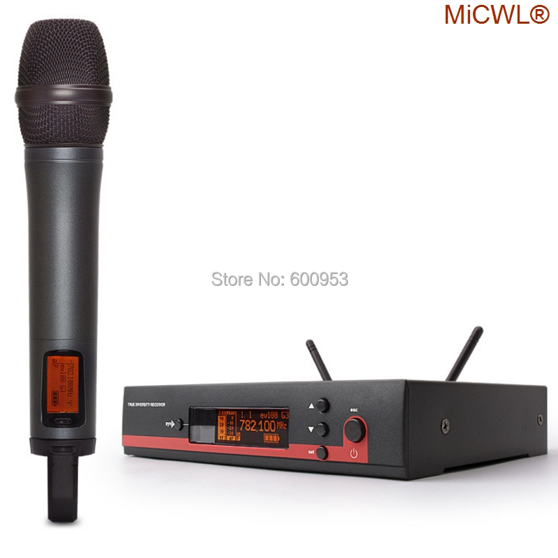 100% MiCWL Marque EW135g3 Sans Fil Systèmes Superman son microphone concert KTV karaoké OK DJ Sans Fil Microphone
