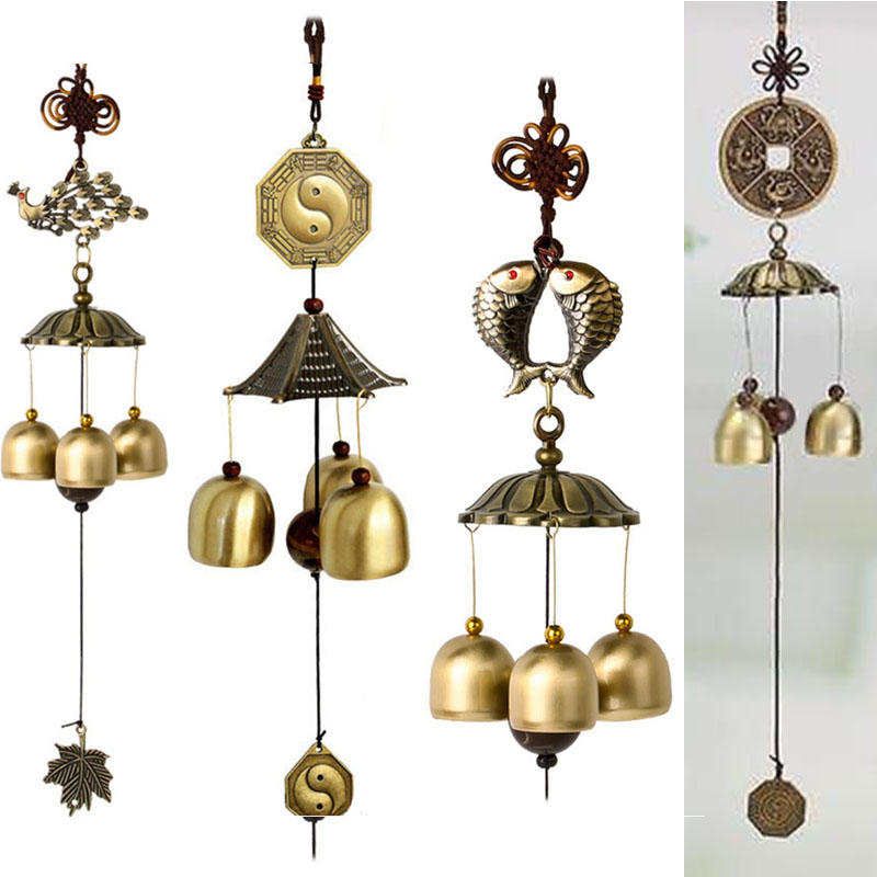Wind Chimes Wind Bell Aeolian Bells Copper Wind-bell Garden Home Decor Metal Wind Chime Hanging Decoration Ornament High Quality