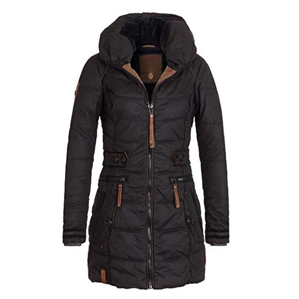 Bohoartist 2018 veste d'hiver femmes manteaux à capuche grande taille Parkas Épaissir Femme Mince Poche À Fermeture Éclair Survêtement décontracté Manteau Chaud