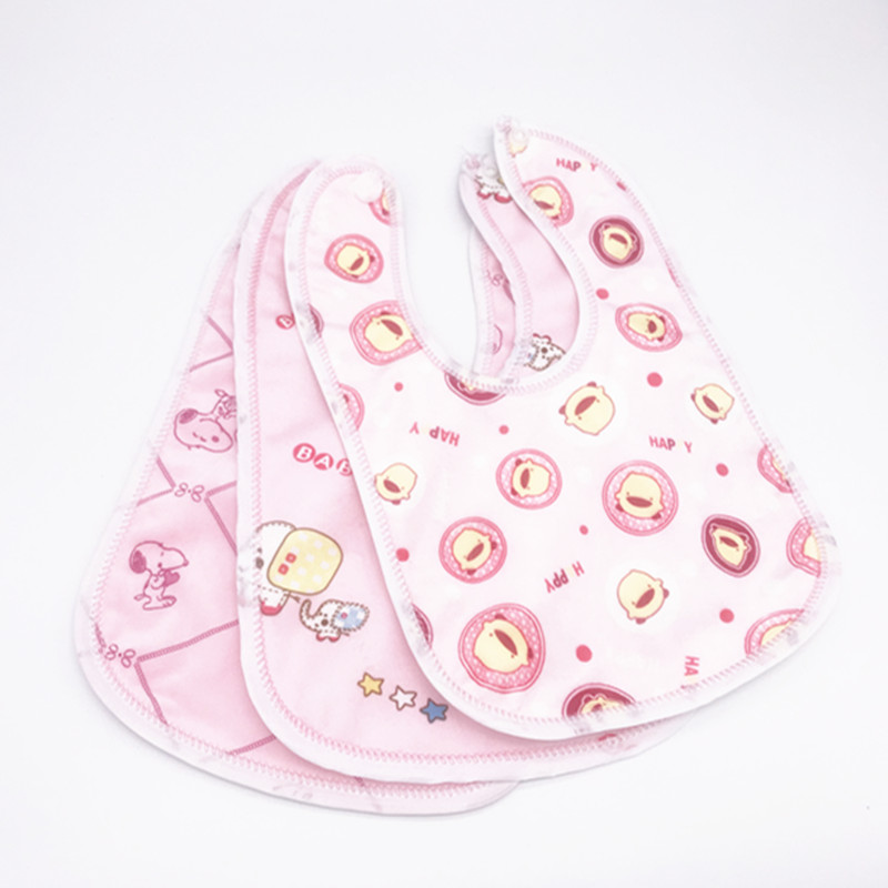 Image 2 - 30pcs/lot Toddler  Baby Boys Girls Waterproof Feeding Clothes  Newborn Clothing Accessories Baby Bibs Infant Feeding ClothesBibs & Burp Cloths   -