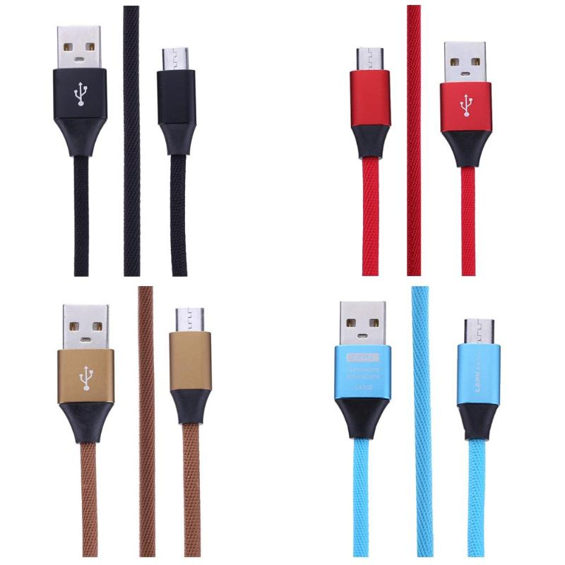 1m/3.28ft Weaving Micro Usb Data Sync Transfer Cable Nylon Braided Alloy Fast Quick Charging Cord Wire Line Computer & Office