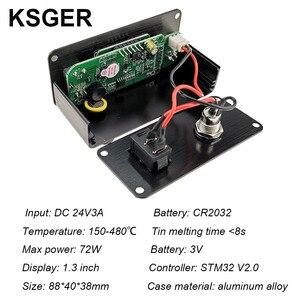 Image 3 - KSGER Mini estación de soldadura T12 DIY STM32 OLED V2.01, controlador con mango de 907, Kits de carcasa de aleación de aluminio, herramientas de soldadura T12, puntas de hierro