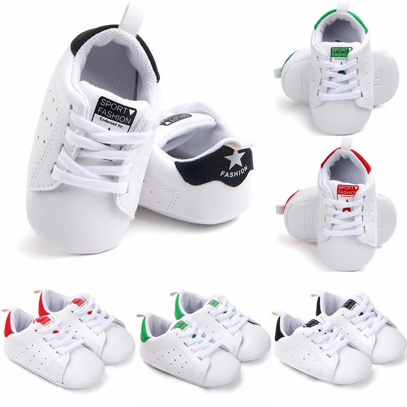 New Newborn Toddler Infant Baby Girl Boy Soft Sole Canvas Crib Shoes Sneaker Prewalker Ventilated Baby Shoes 0-18M