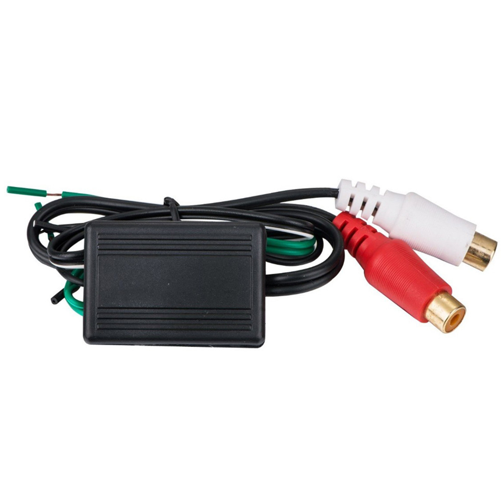 Mayitr 1PC 12V haut-parleur à 2 RCA ligne sortie convertisseur IN/OUT haut à bas niveau ligne sortie amplificateur convertisseur adaptateur