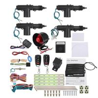 New Car Alarm Multifunction Remote Car Alarm Keyless Entry Security With 4 Door Power Lock Actuator Motor Kit Start Stop