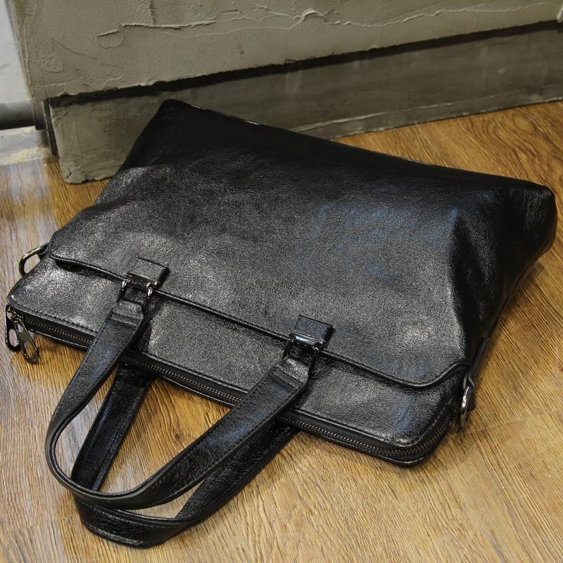 New Fashion Brand Briefcase Pu Leather Simple Business Men Briefcase Laptop Bag Man Single Shoulder Bag Black Cross Body Handbag