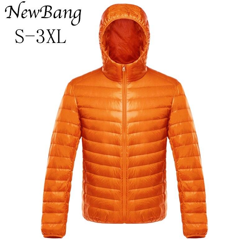NewBang мужской пуховик, ультра легкий пуховик, мужские теплые куртки, ветровка, светильник, пальто, пуховая парка, пуховое пальто