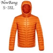 NewBang Unten Mantel Männlichen Ultra Licht Unten Jacke männer Warme Jacken Windjacke Leichte Mantel Feder Puffer Parka Feder Mantel