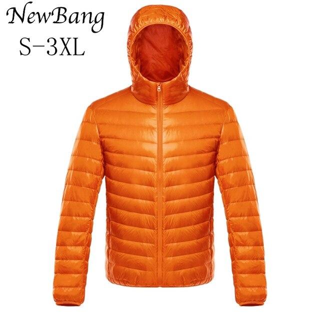 NewBang duvet manteau mâle Ultra léger doudoune hommes chaud vestes coupe vent léger manteau plume bouffante Parka plume manteau