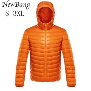 Image 1 - NewBang למטה מעיל זכר קל במיוחד למטה מעיל גברים של מעילים חמים מעיל רוח מעיל קל משקל נוצה במקומות Parka מעיל נוצות