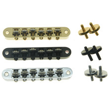 KAISH Guitar Roller Saddle Bridge Tune-O-Matic Bridge For Gibson Les Paul,SG,ES Dot,Gretsch Bigsby Guitar with M4 Threaded Posts(China)