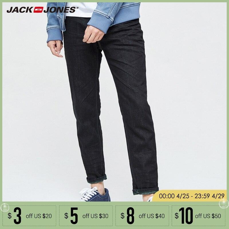 JACK&JONES Brand NEW Minimalist style Denim mid waist full length male washing cowboy casual   jeans   |217132547