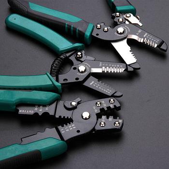 Szczypce do zdejmowania izolacji narzędzie wielofunkcyjne naprawa szczypce do narzędzi do ściągania izolacji z kabli szczypce do zaciskania szczypce do narzędzi połączenie tanie i dobre opinie Yalku CN (pochodzenie) ELECTRICAL STAINLESS STEEL Gięte Chiński HW072 HW073 HW074 HW075 Wielofunkcyjny Decrustation Szczypce