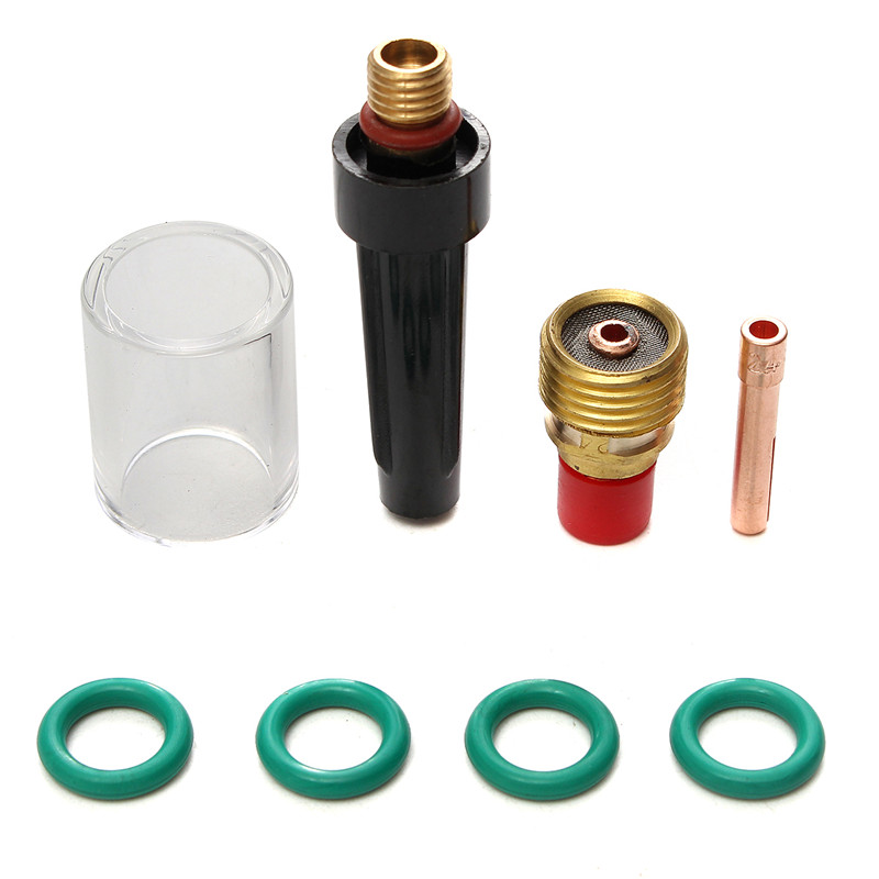 8 stücke Wig-schweißbrenner Gas Objektiv Tasse Kit für Tig WP-9/20/25 Serie 3/32