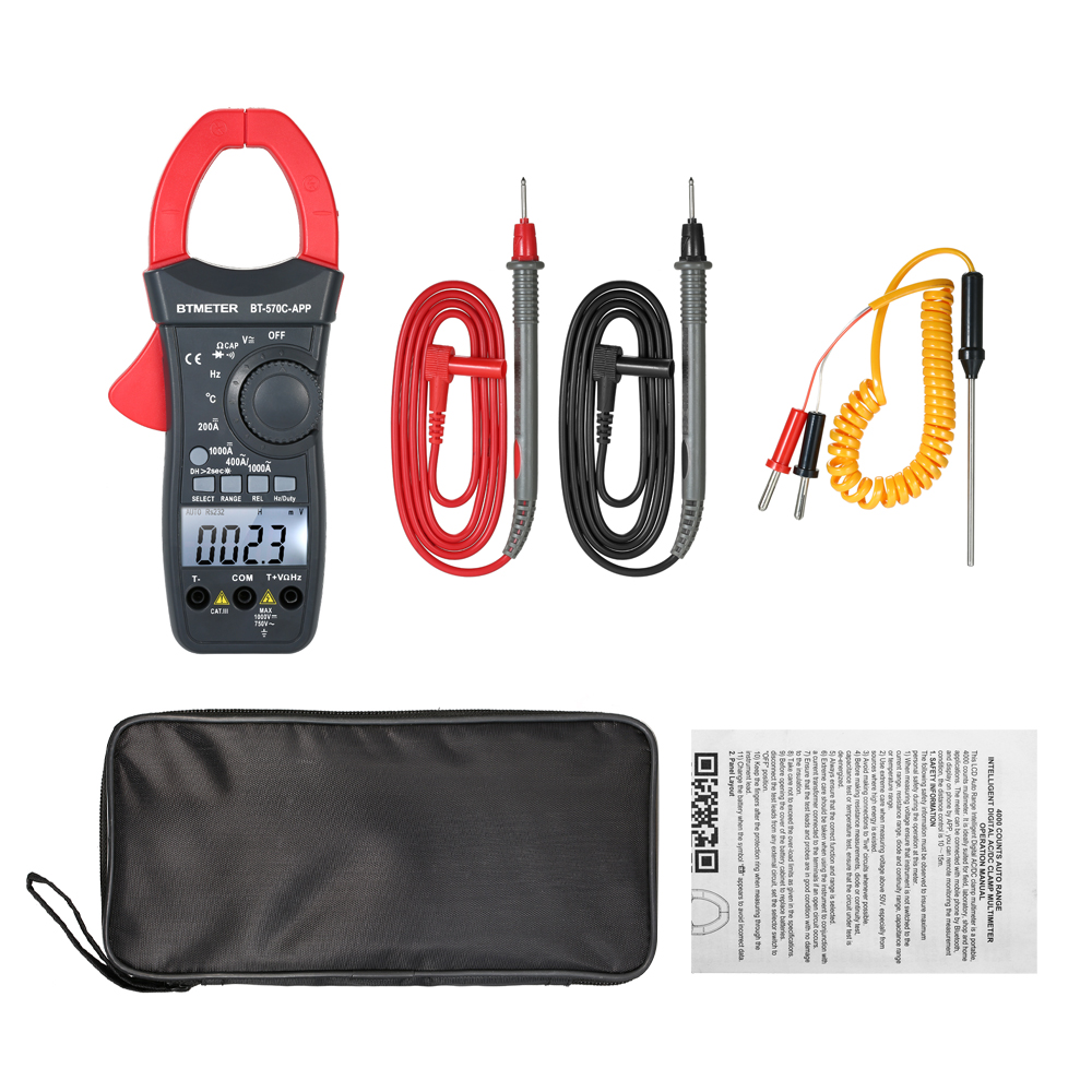 Multimeter Tacklife CM01A Clamp Meter 4000 Counts Auto-Ranging Digital Tester